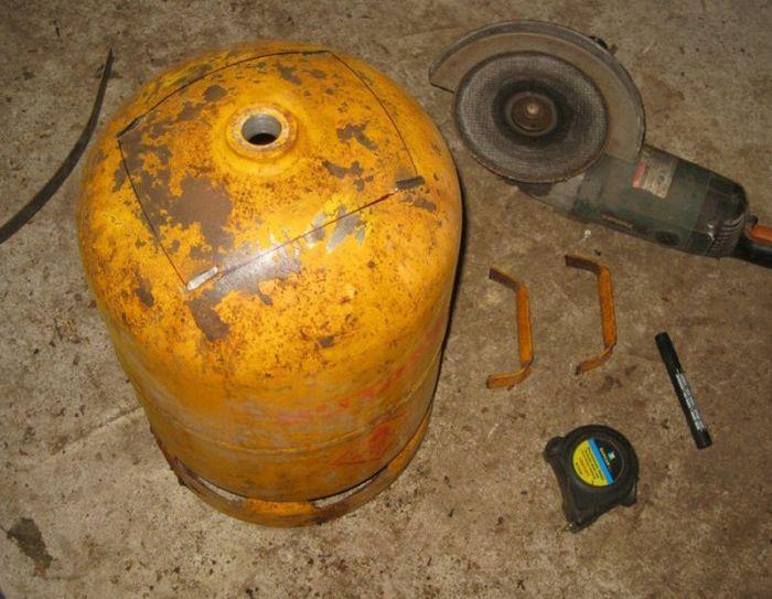 Самодельные печь и бойлер из газового баллона
