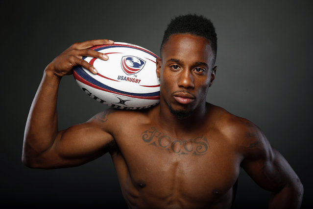 Rugby player Carlin Isles poses for a portrait at the U.S. Olympic Committee Media Summit in Beverly