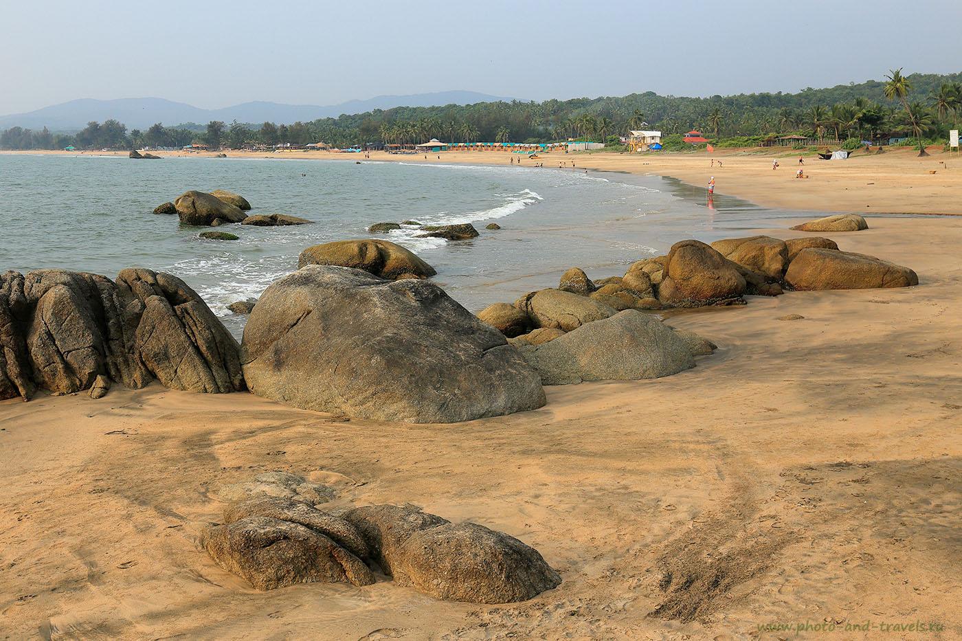 Фото 3. Вид с южного мыса пляж Агонда. Где отдыхать в Южном Гоа? Отзывы туристов о поездке в Индию (24-70, 1/640, -1eV, f9, 35mm, ISO 250)