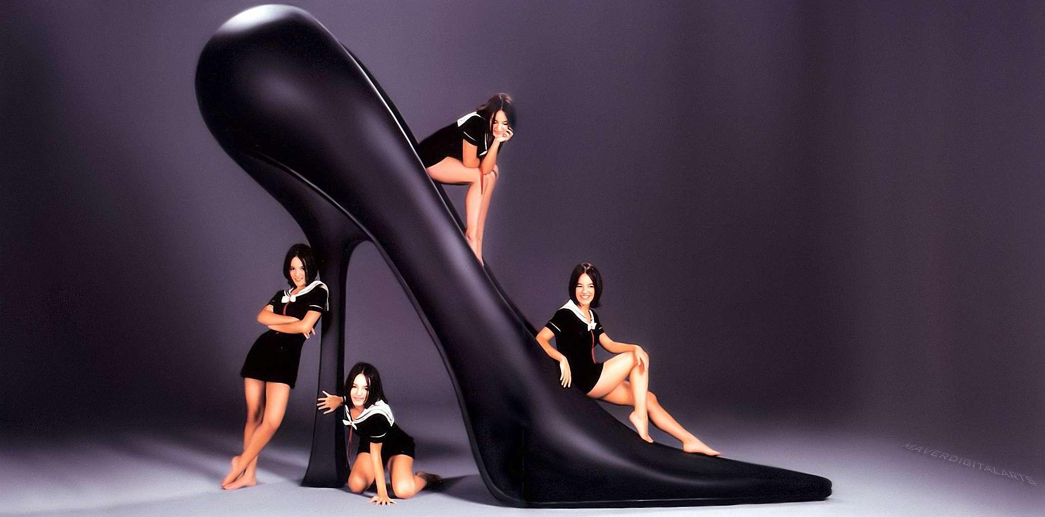 Alizee high heels hentai scene