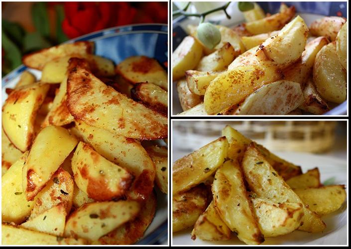 Пикантный запеченный картофель рецепт