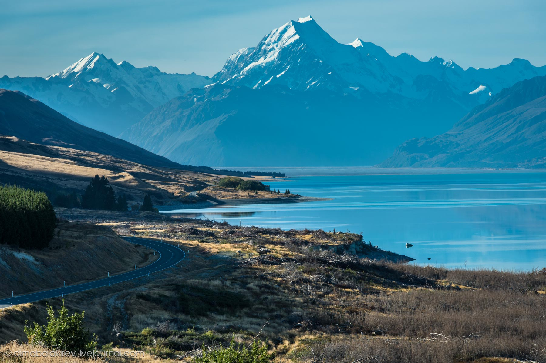 Sidelined_Landscape, Mt Cook, New Zealand бесплатно