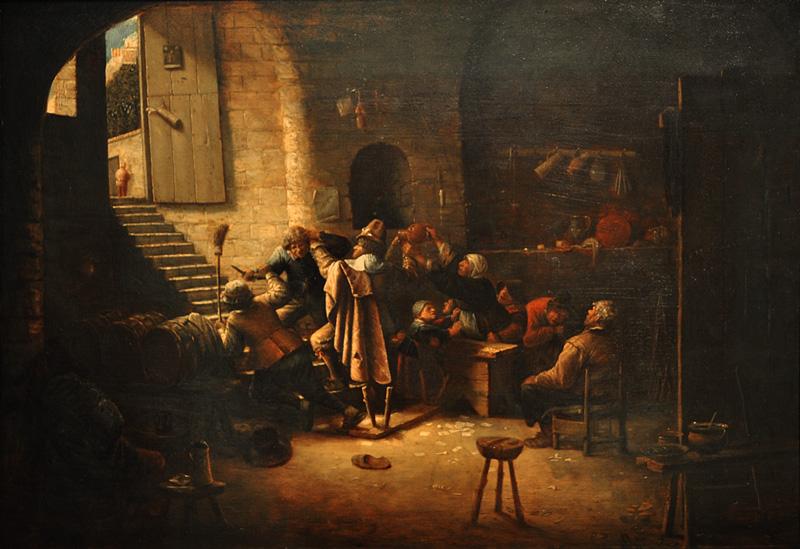 Joos van Craesbeeck, Las armas de Amberes,escena de taberna, 1635-39.jpg