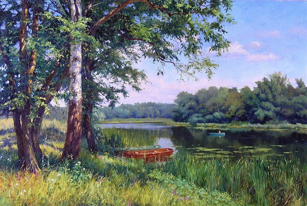 Картинки летних пейзажей русских художников, поздравления днем медика
