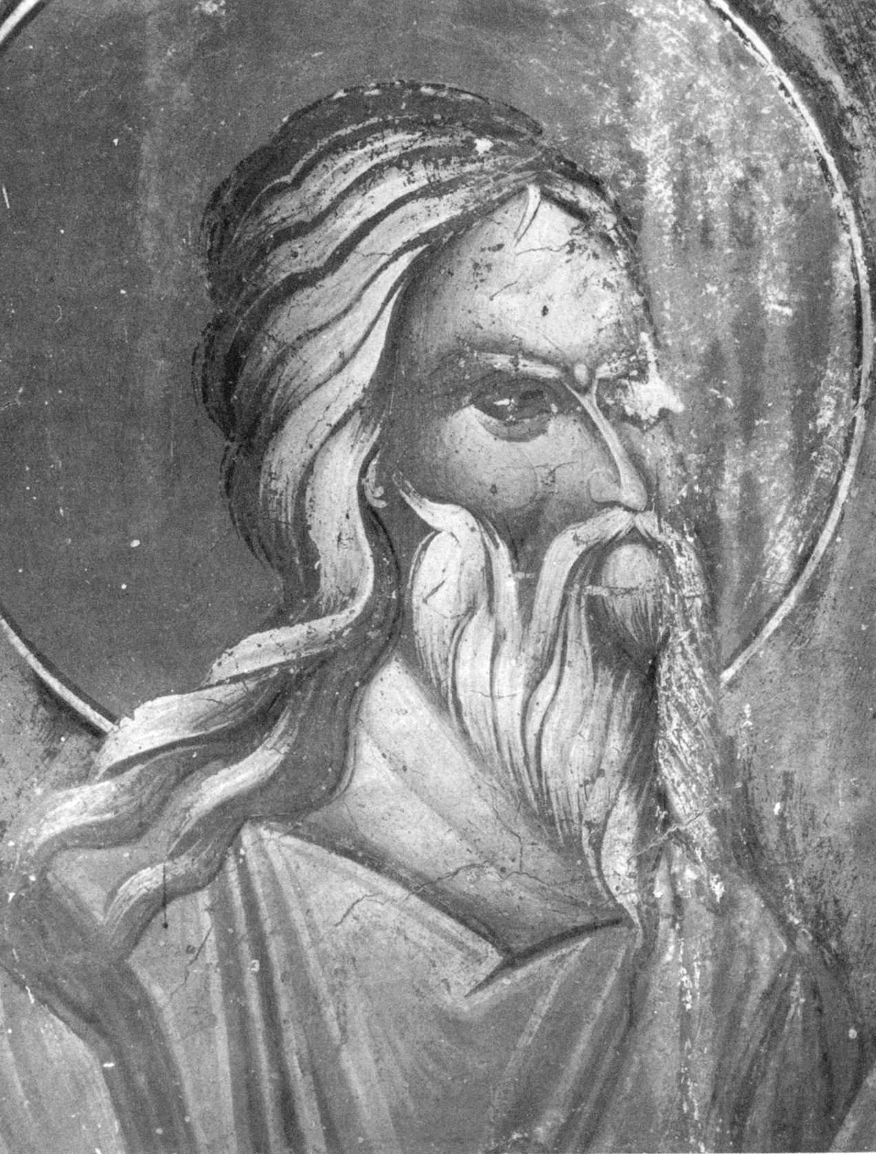 Святой Пророк Михей. Фреска церкви Святых Архангелов в сербском монастыре Хиландар на Афоне. Около 1380 года.