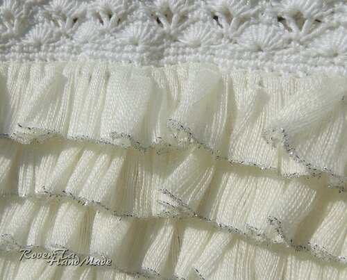 roventa-handmade, crocheted dress, вязаное платье, платье одуванчик, платье крючком, платье для девочки крючком, белое платье, нарядное вязаное платье, ленточная пряжа, платье из ленточной пряжи