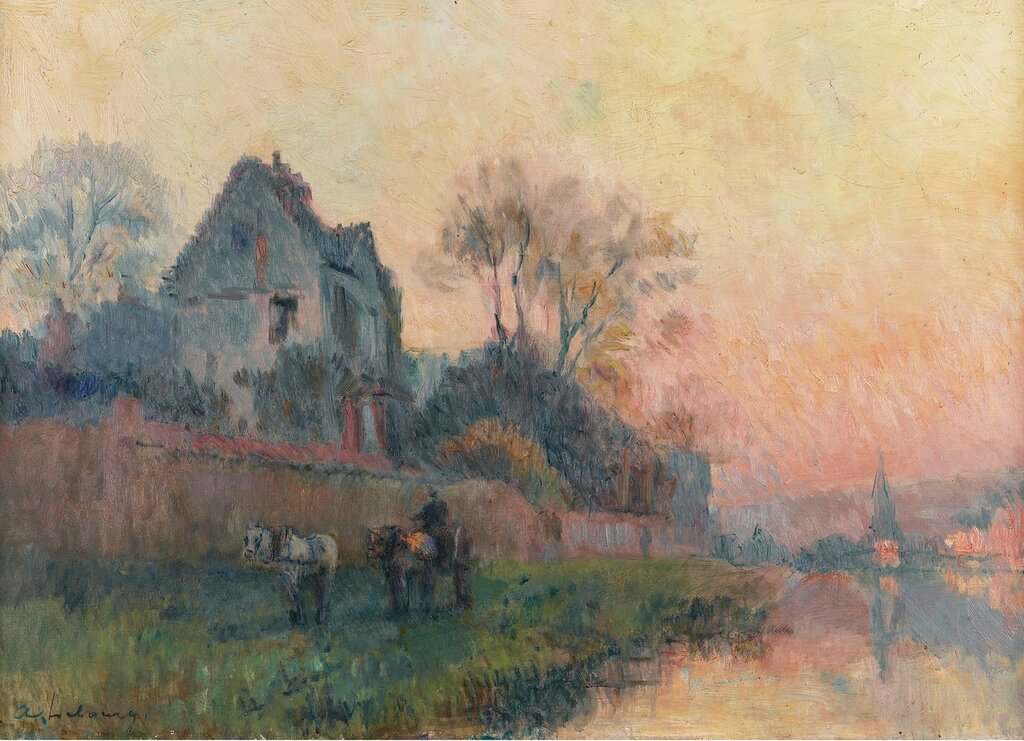 Albert Lebourg - The Banks of the Seine and Castle.jpg