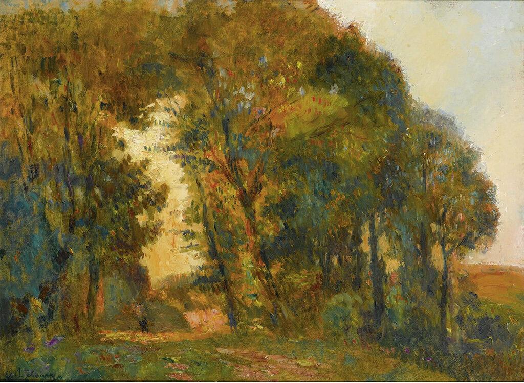 Albert Lebourg - Trees at Sunset.jpeg