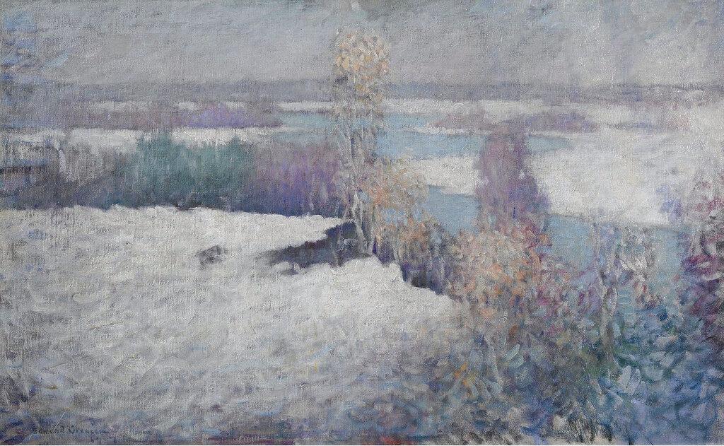 Edmund William Greacen - Winter landscape, Lieutenant River, Old Lyme, 1917.jpeg