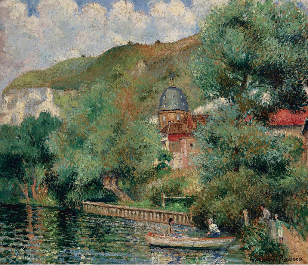 Georges Manzana-Pissarro - Bank of the Seine at Andelys, the Hospice, 1935.jpeg