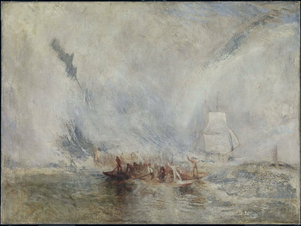 Whalers exhibited 1845 by Joseph Mallord William Turner 1775-1851