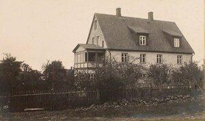 Вид дома, где размещалась ветеринарная часть этапно-хозяйственного отдела штаба XII армии.