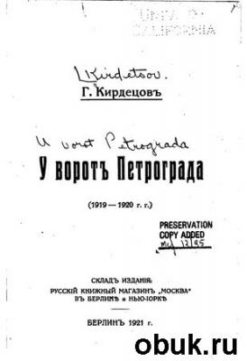 Книга У ворот Петрограда (1919-1920 гг.)