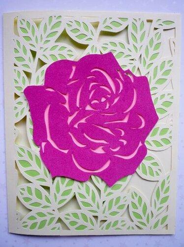 Открытка Бархатная роза. Мастер-класс