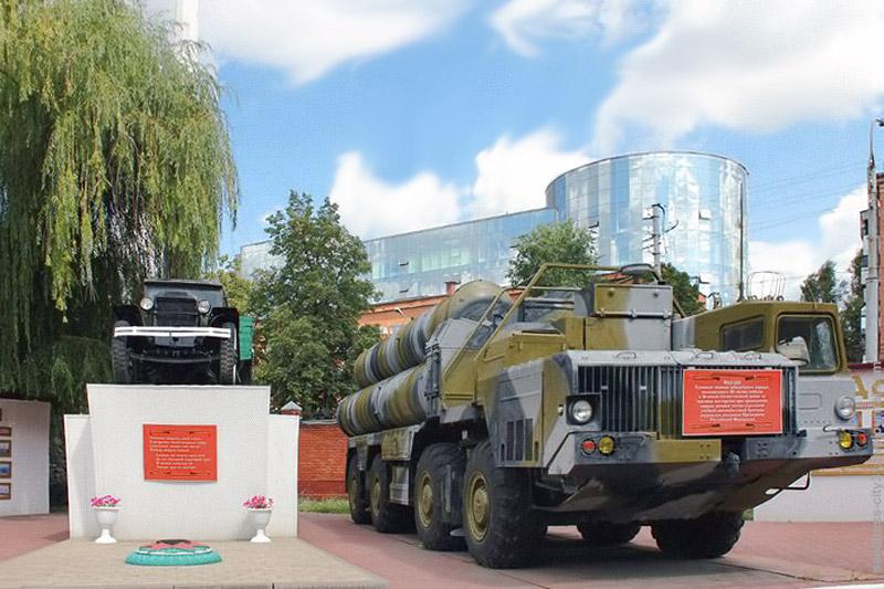 Техника в экспозиции памятного комплекса Белгородской воинской части, 2014