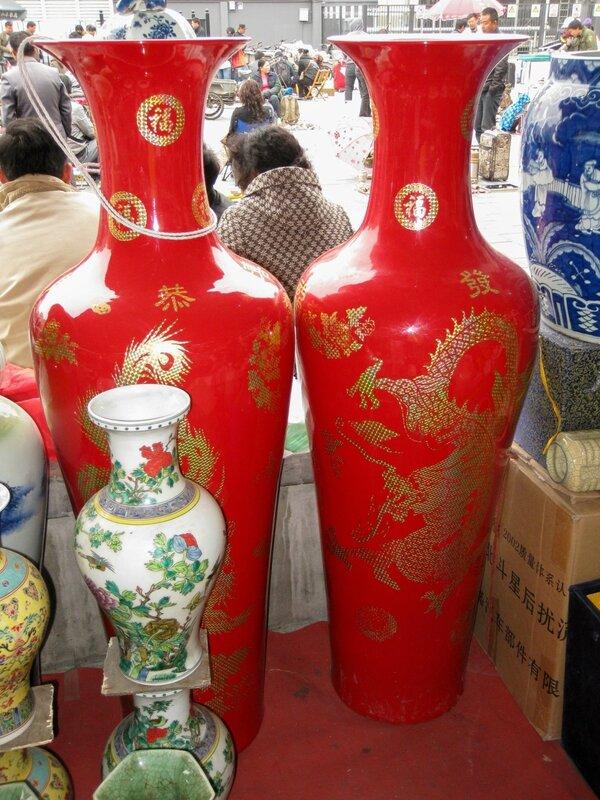 Парные вазы, рынок Паньцзяюань, Пекин