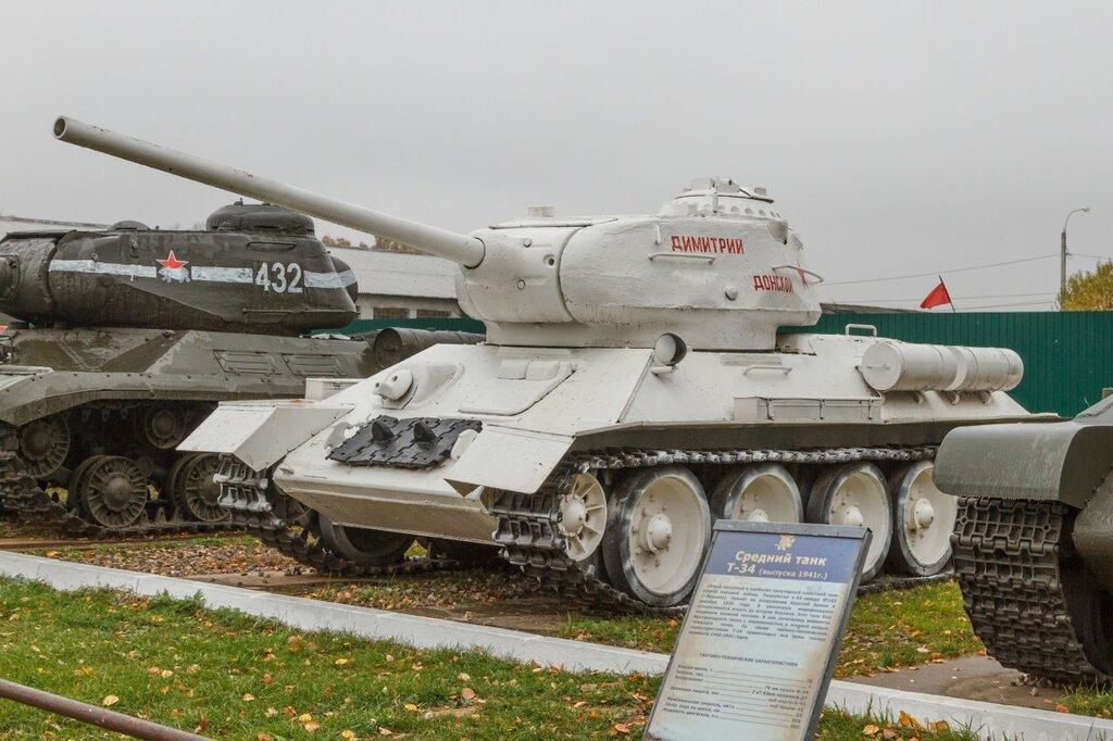 """Именной танк Т-34-85 """"Дмитрий Донской """" в зимней окраске, Кубинка"""