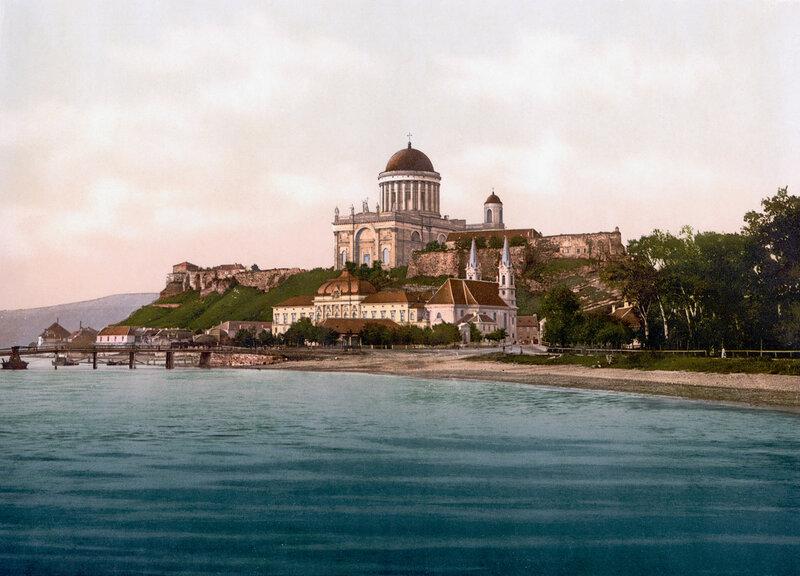 Эстергом в конце XIX века (вид со стороны современной Словакии)