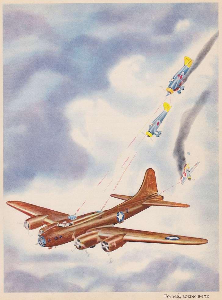 Boeing B17 Flying Fortress - тяжелый бомбардировщик