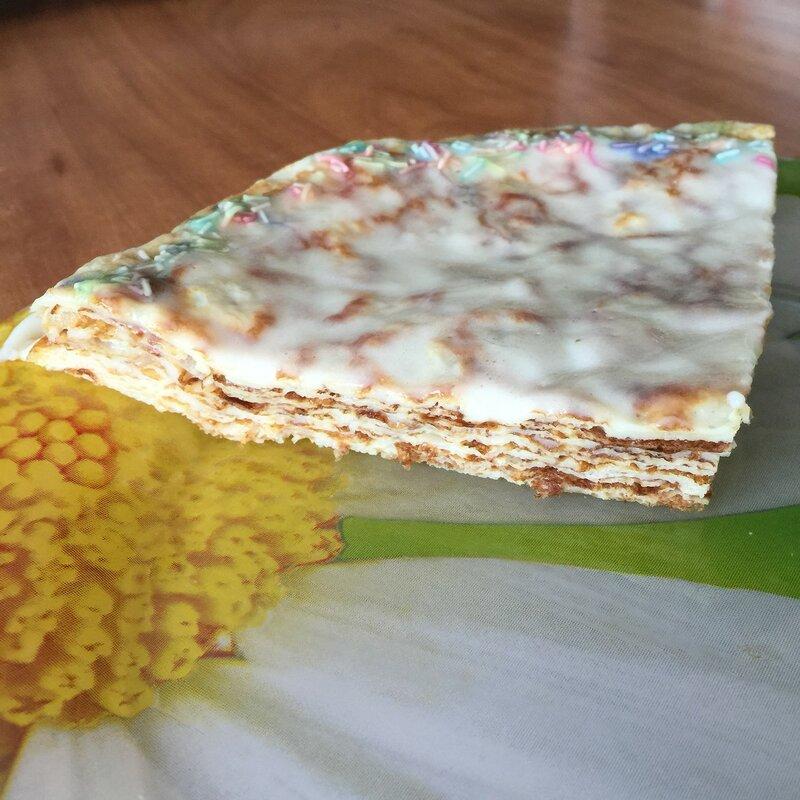 Диетический блинный пирог