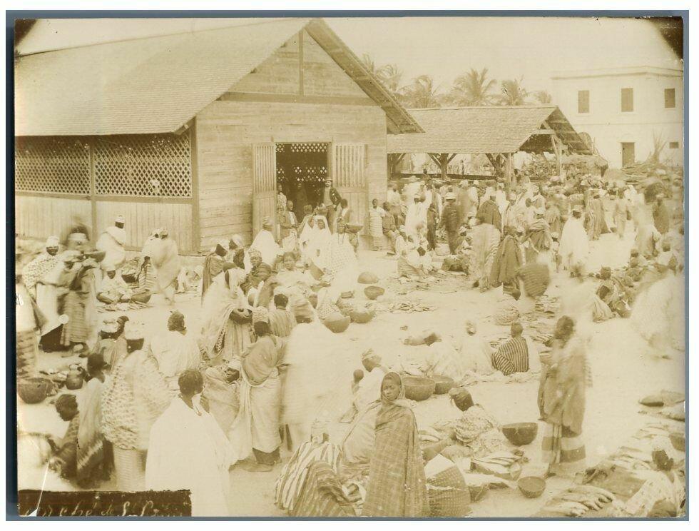Рыбный рынок в Сен-Луи. 1900