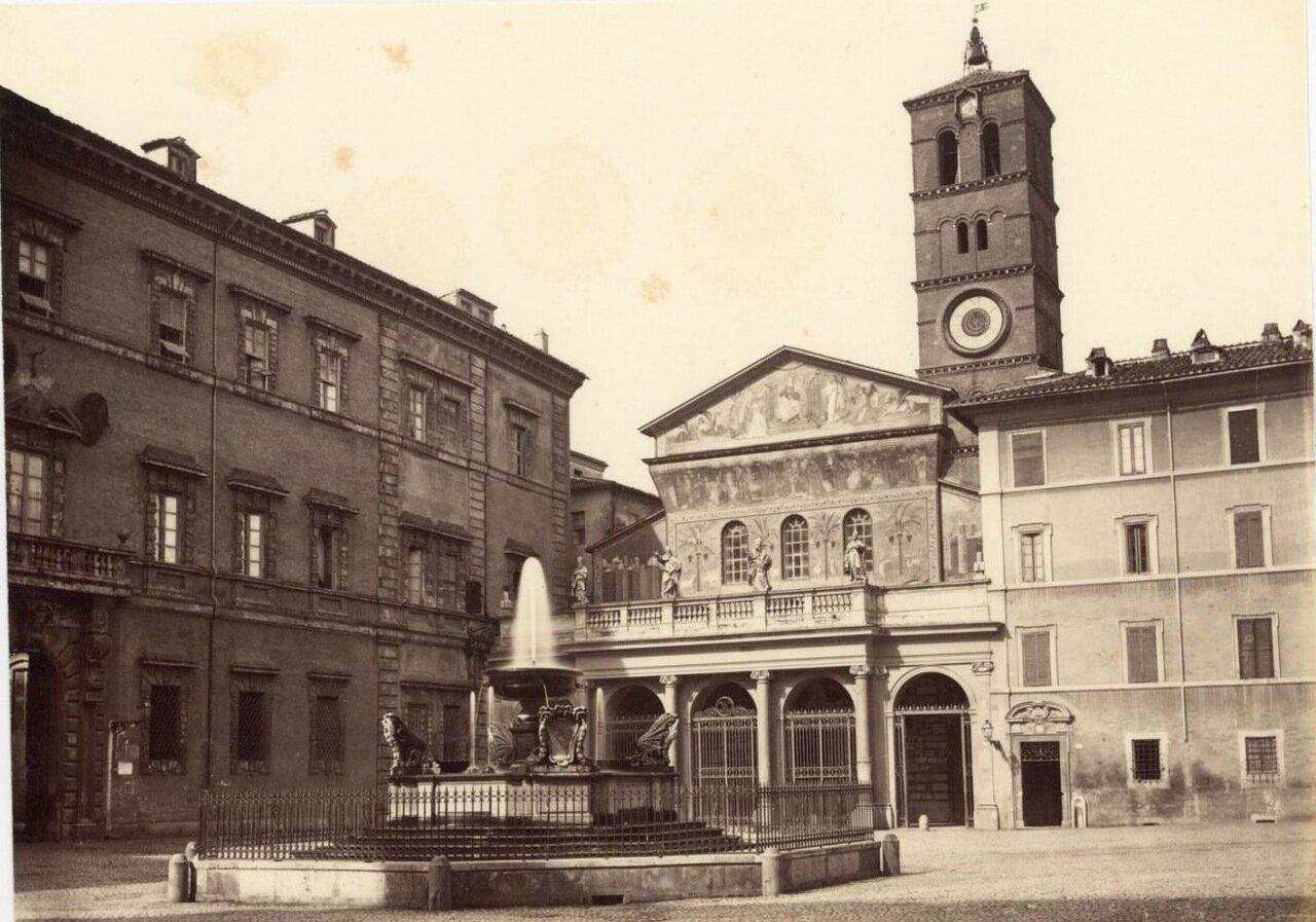 Базилика Санта-Мария-ин-Трастевере. 1870.