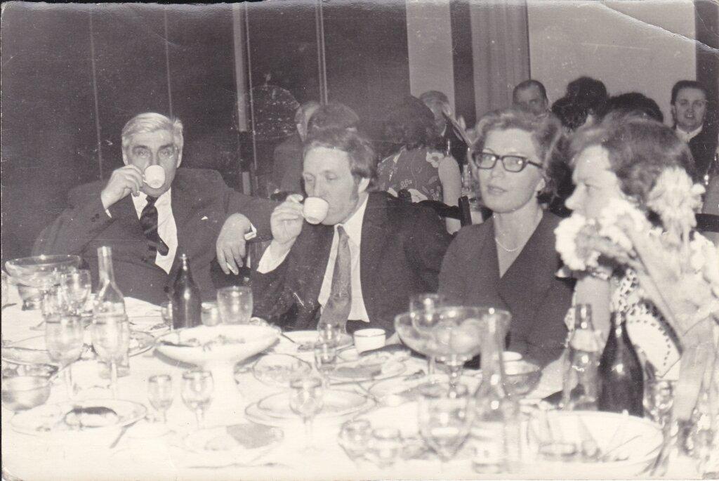 1970-е. Московское застолье.За свадебным столом в ресторане «Белград»