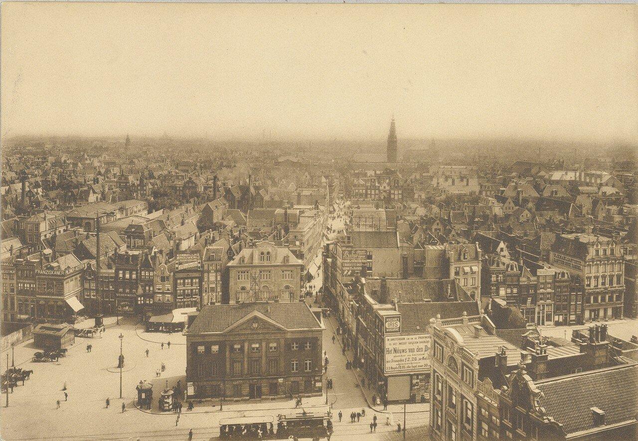 1906. Панорама Амстердама от Королевского дворца