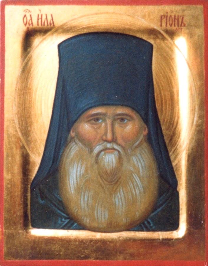 Святой Преподобный Иларион Оптинский. Иконописец Павел Басалаев. Около 2000 года.