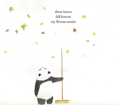 Панда с метлой