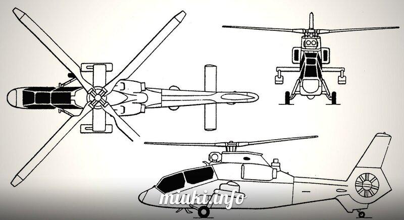 Вертолеты Японии многоцелевой Kawasaki OH-1 Ninja Схемы OH-1