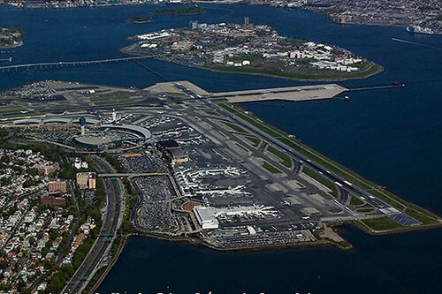 aerial photograph LaGuardia airport, LGA, Queens, New York City