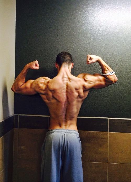 мощная спина