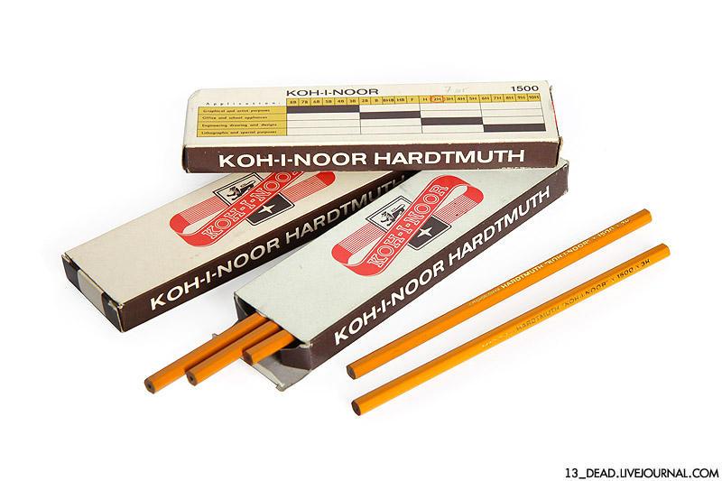 10. Чехословацкие карандаши Это сейчас простые карандаши (мягкие и твердые) можно купить в любом отд