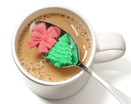 Цветной сахар в форме ёлки