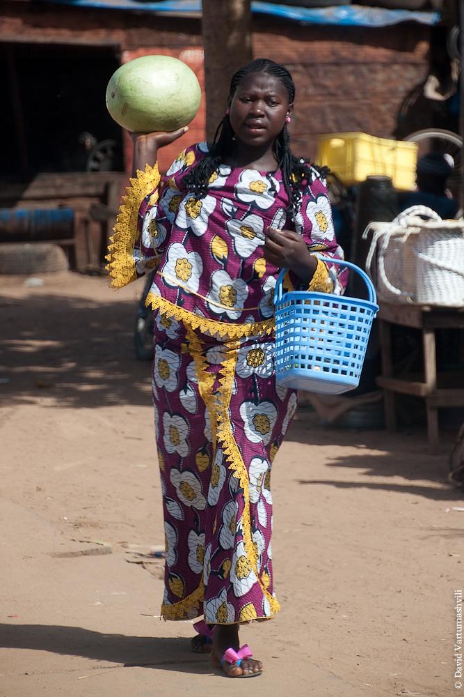 Гамбия, переправа через реку