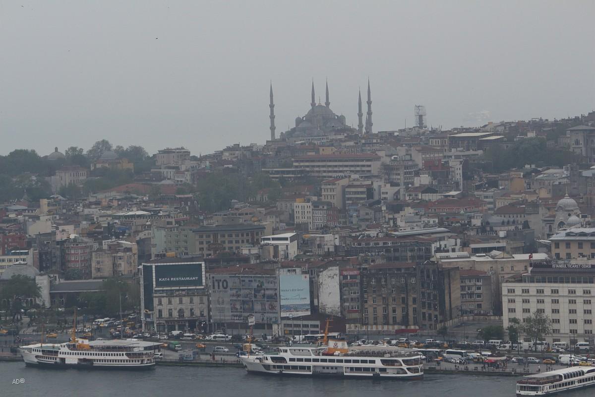 Стамбул 2015 - Виды Стамбула с Галатской башни - Виды на Султанахмет