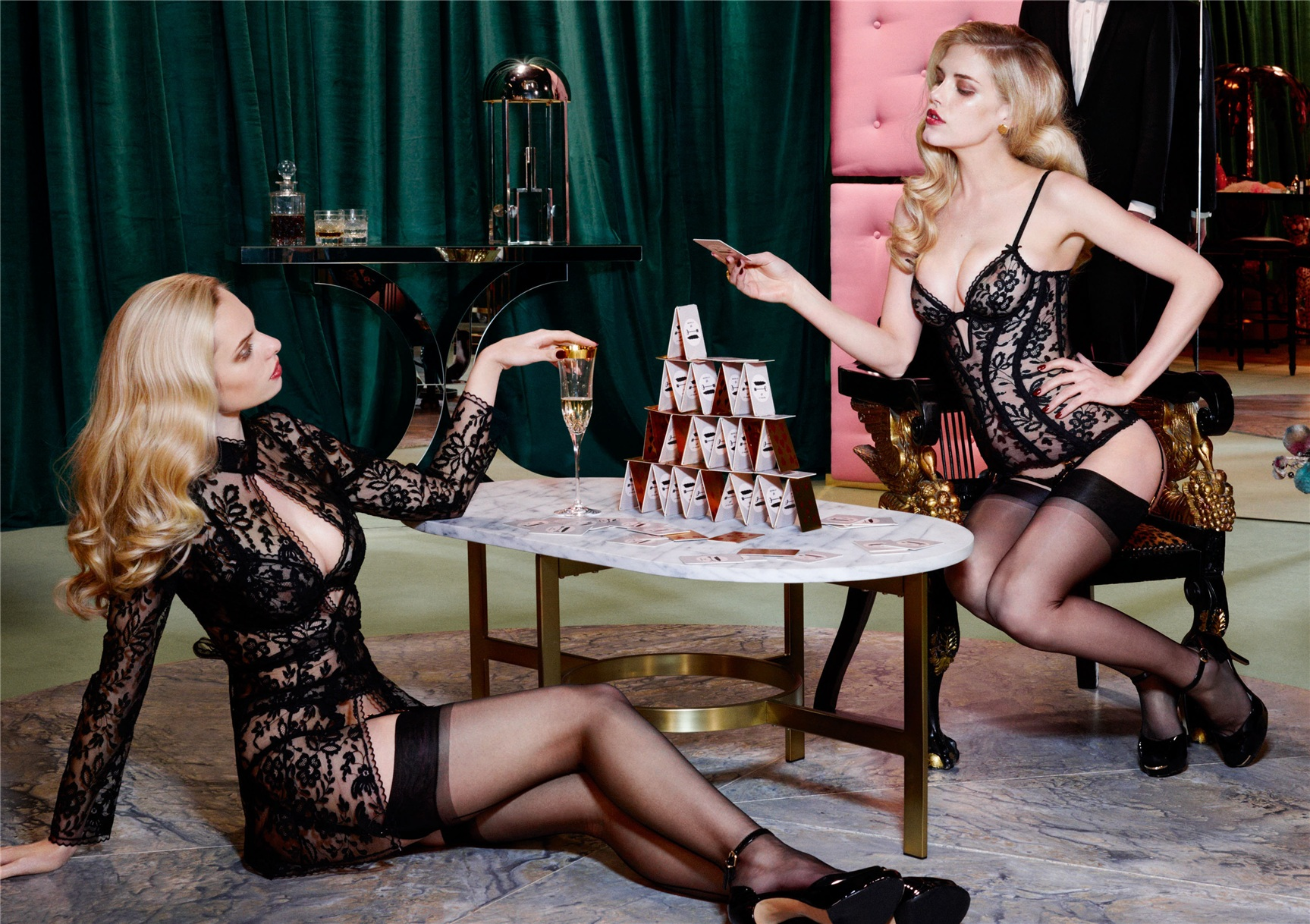 Ashley Smith, Dioni Tabbers by Christian Larson for Agent Provocateur fall/winter 2014/15