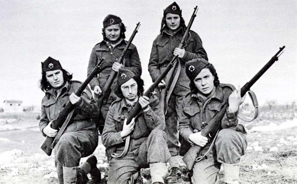 Югославские партизанки (февраль 1944 года)