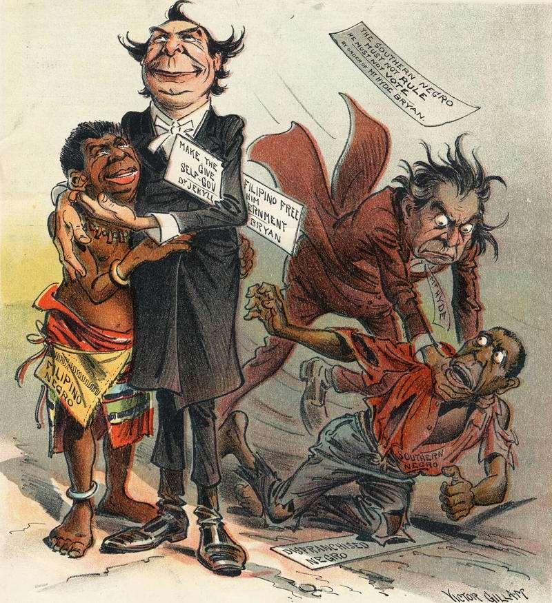 За одних (филиппинских) негров и против других (американских) негров (1900 год)