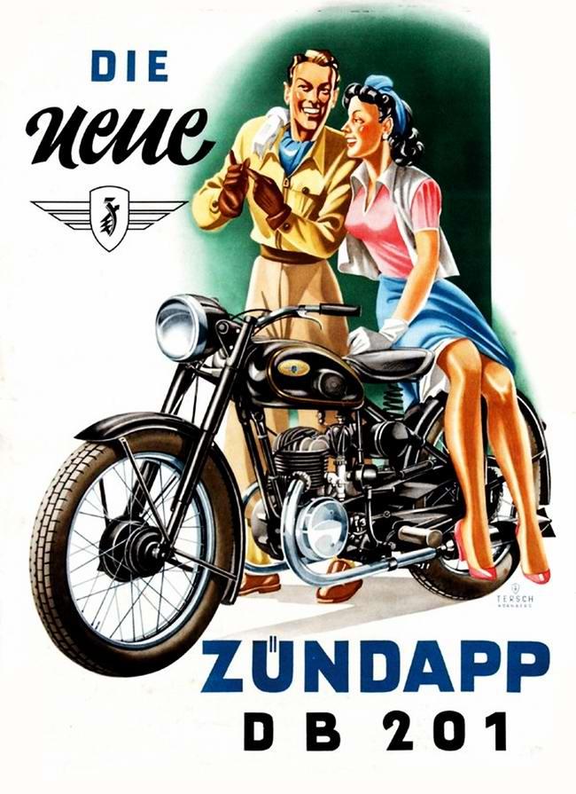 Zundapp DB 201 - Германия (1951 год)
