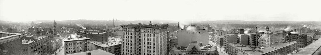 1901. Панорама Сиракуз, штат Нью-Йорк