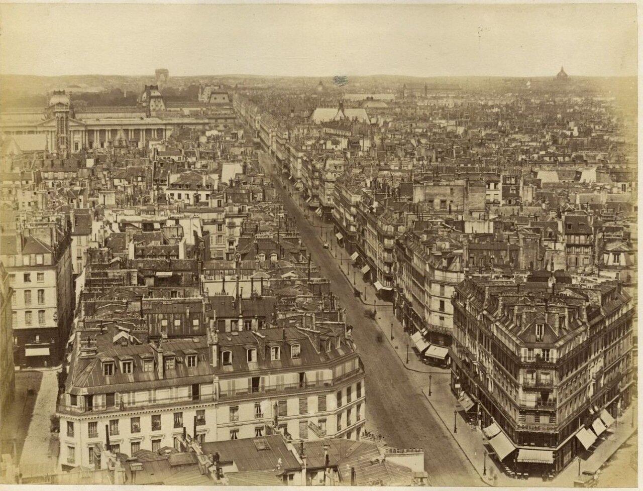 Панорама Парижа. 1870