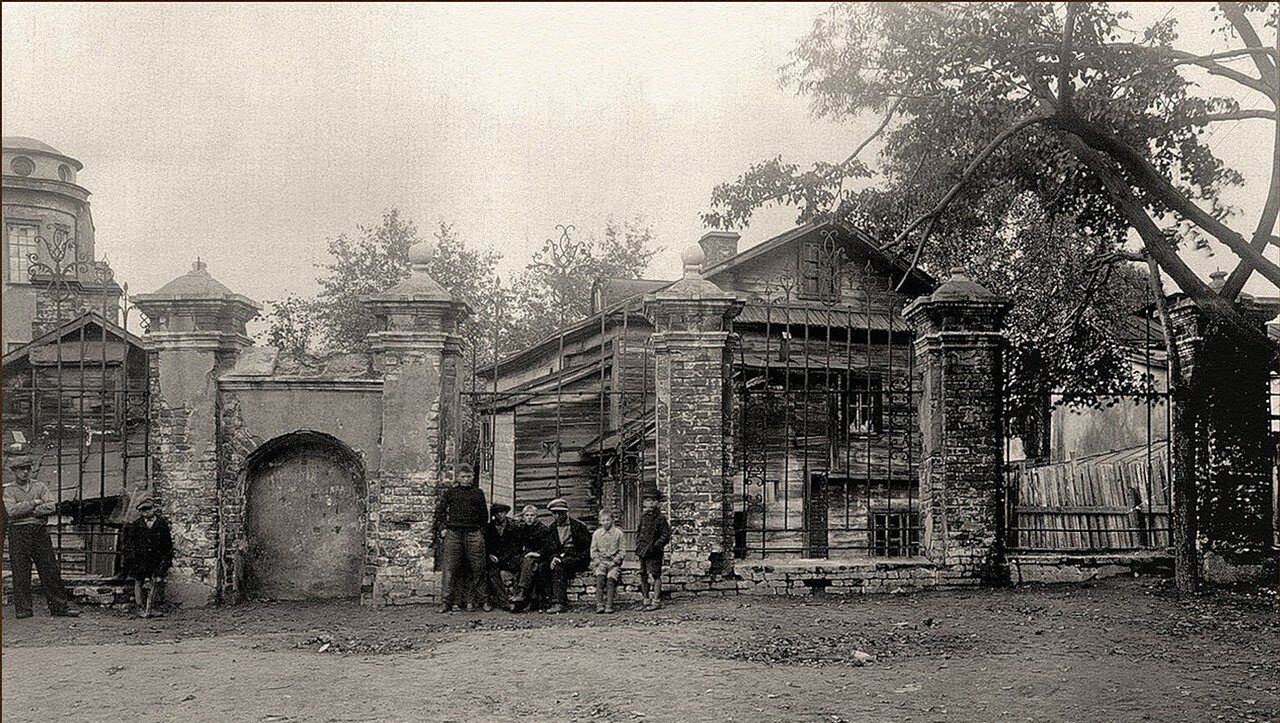 1930-е. Ограда храма Никиты мученика за Яузой