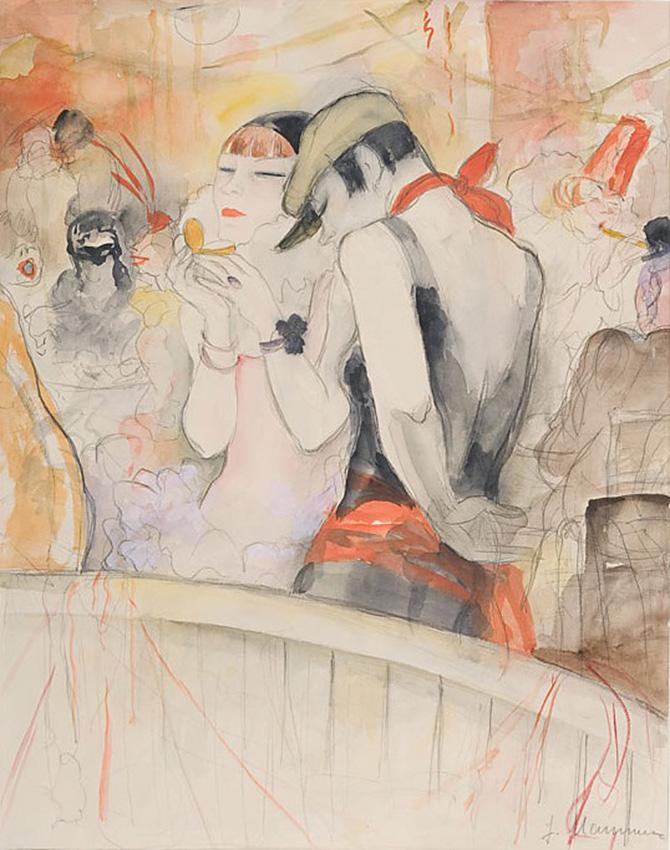 Карнавал, около 1931 г. Жанна Маммен (1890-1976), Карандаш и акварель