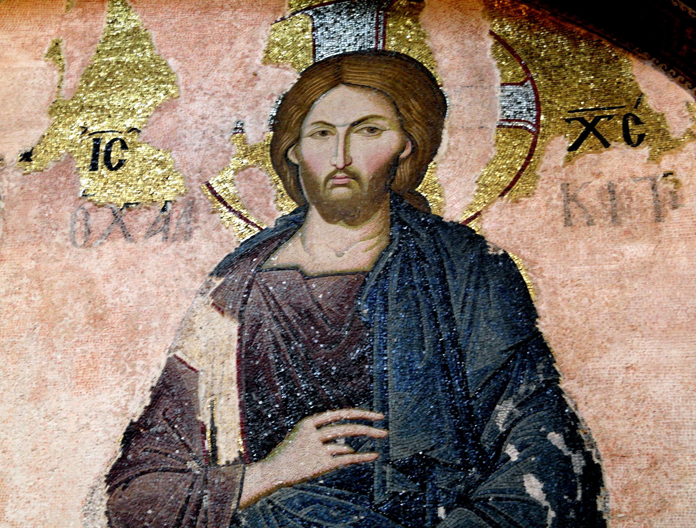 Христос Пантократор. Мозаика монастыря Хора в Константинополе. 1315 - 1321 годы.