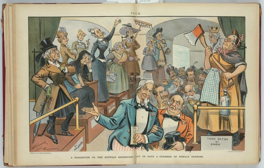 Политическая карикатура американского журнала  конца 19 - начала ХХ вв.