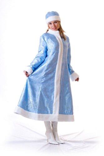 Женский карнавальный костюм Снегурочка длинная