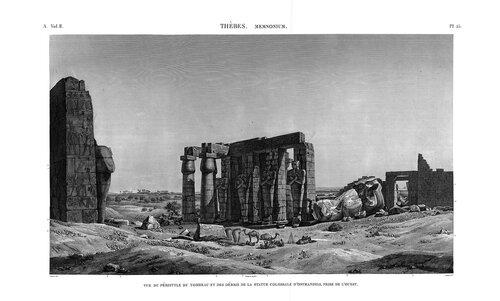 Рамессеум, Египет, поверженный колосс Рамзеса II