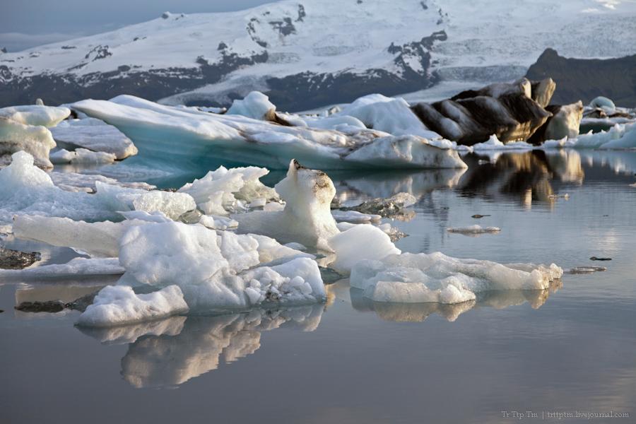 19. Тихий вечер у Ледниковой лагуны.
